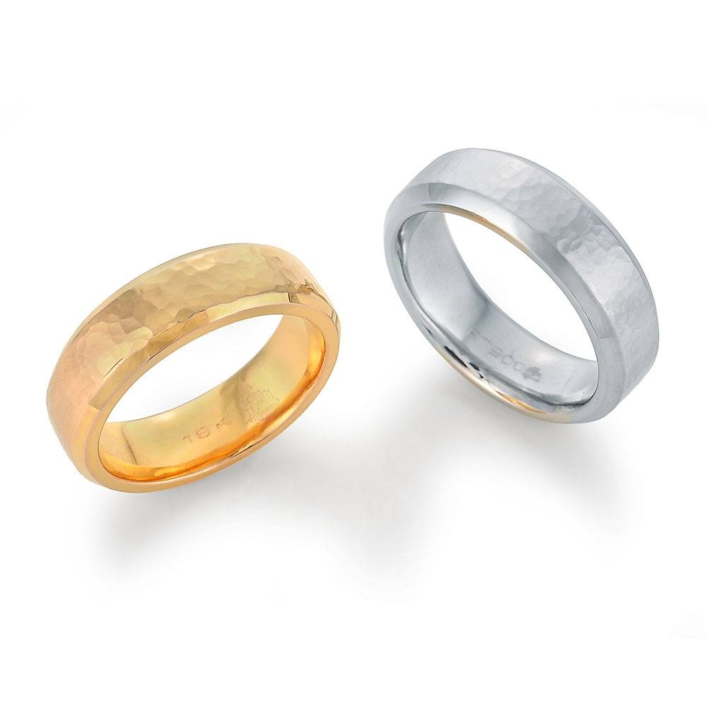 Hammered Finish Wedding Bands | Lester Lampert | Full Service With Regard To Chicago Wedding Bands (Gallery 5 of 15)