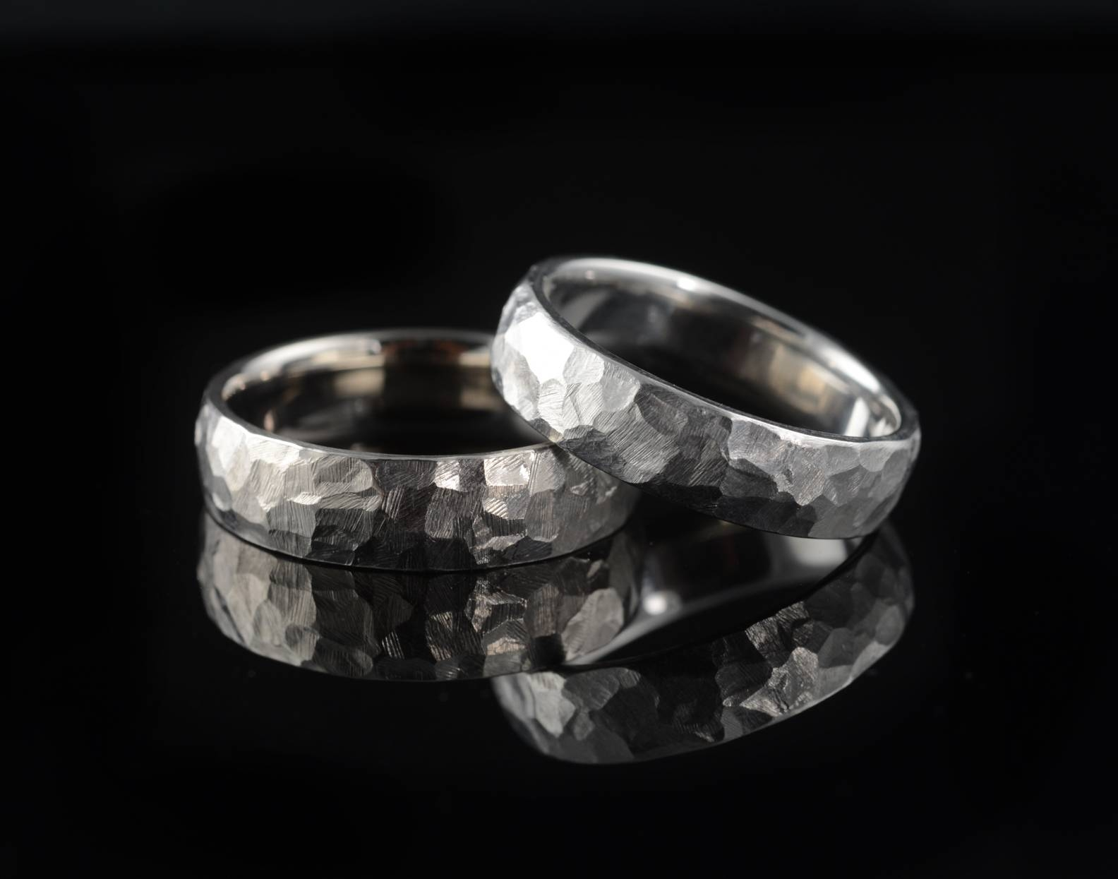 Hammered Wedding Bands – Mccaul Goldsmiths Pertaining To Most Recent Platinum Hammered Wedding Bands (View 7 of 15)