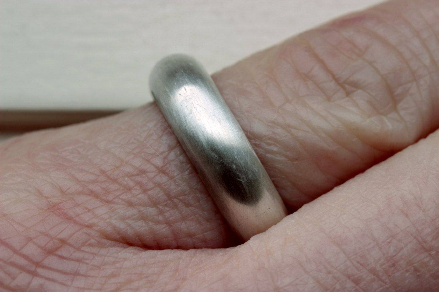Hand Made Black Sterling Silver Men's Wedding Bandthe Flying For Sterling Silver Mens Wedding Bands (Gallery 11 of 15)