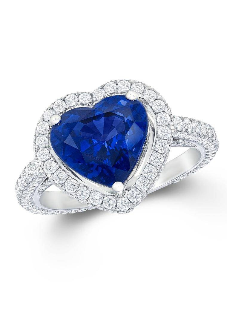Heart Engagement Rings: Not Such A Bad Romance After All | The Inside Blue Heart Engagement Rings (View 14 of 15)