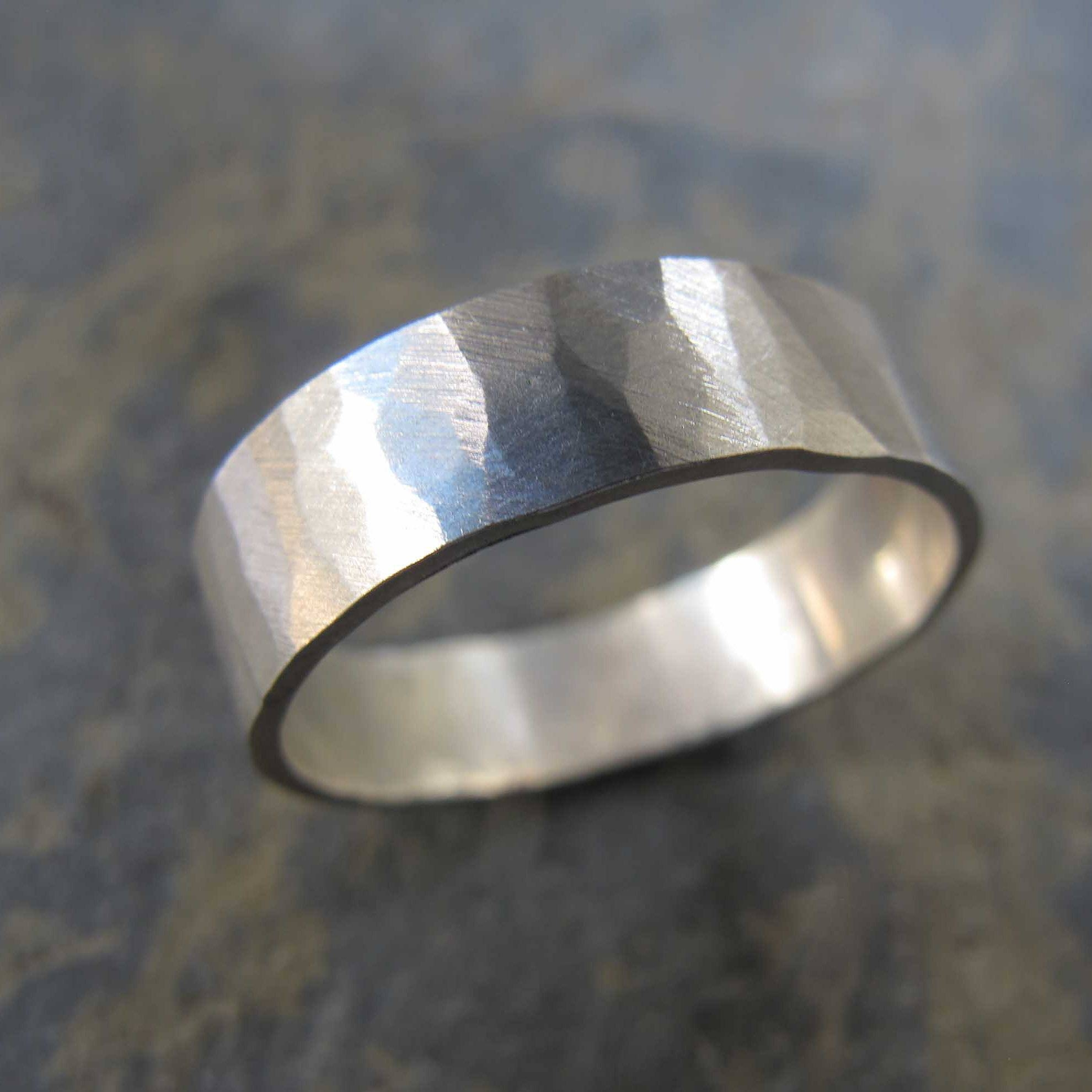 Heather Stephens Jewellery|Handmade Silver & Gold Wedding Rings Regarding Mens Hammered Wedding Bands (Gallery 13 of 15)