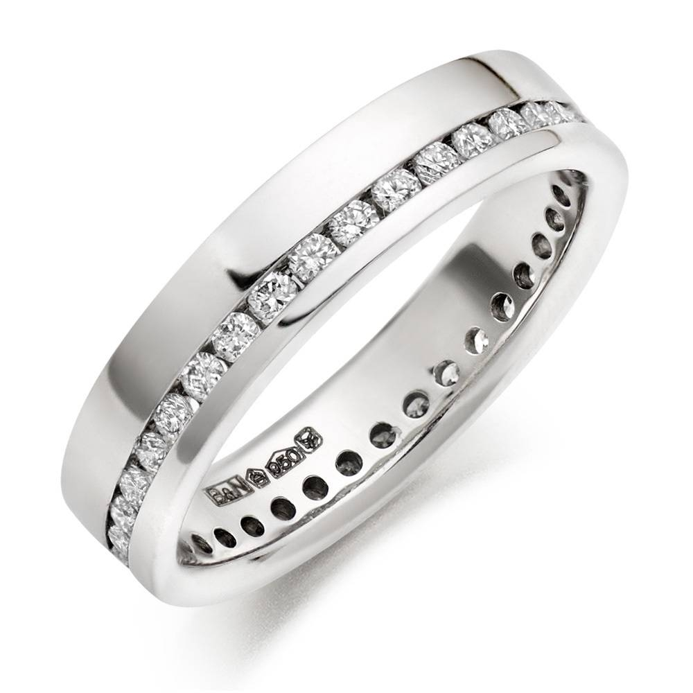His Hers Mens Womens Matching Enchanting Platinum Wedding Bands With Most Recently Released Mens Wedding Bands Platinum With Diamonds (View 5 of 15)