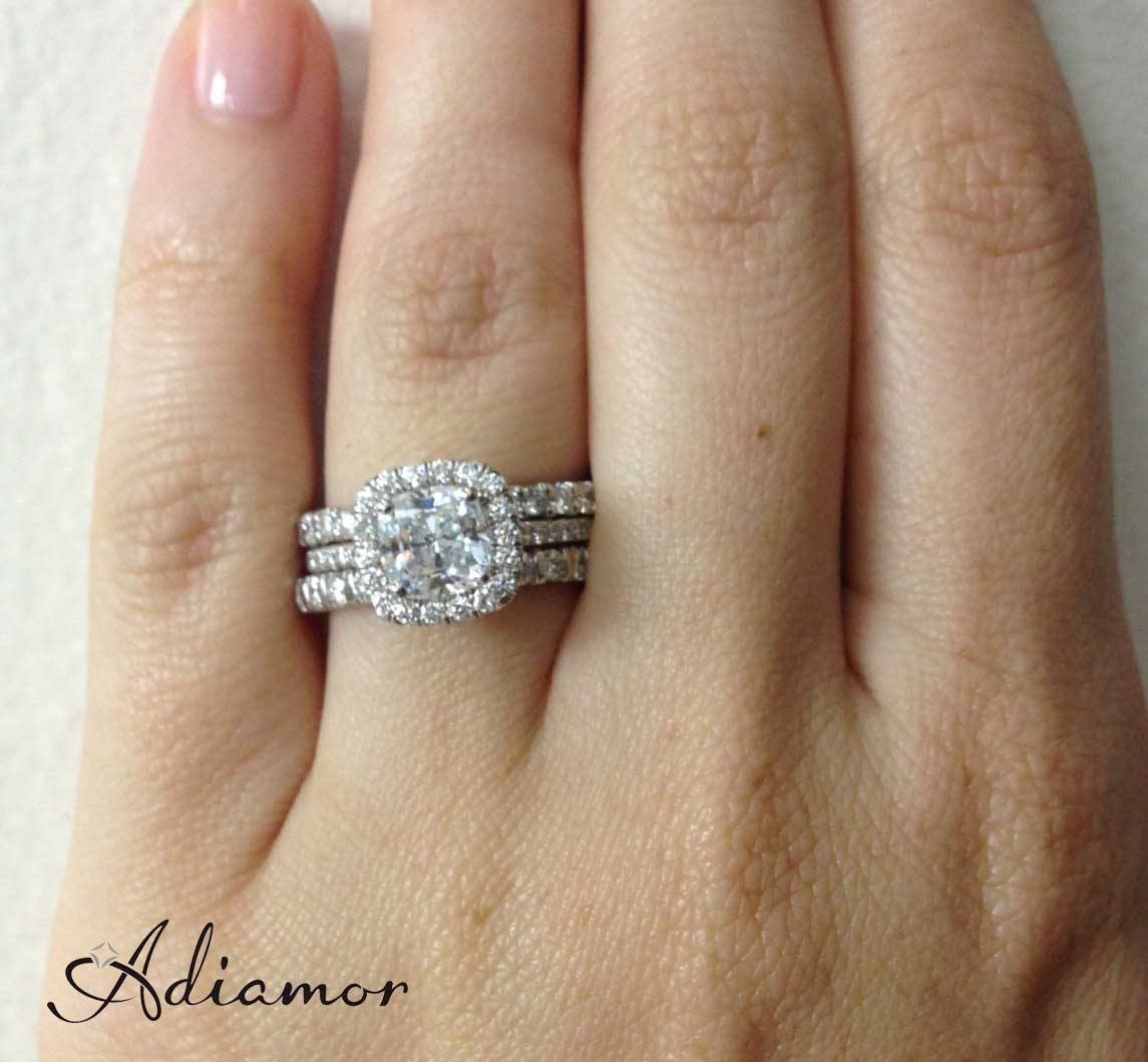 How Do People Like To Wear Wedding Bands? | Adiamor For Wedding Bands To Match Halo Rings (View 3 of 15)