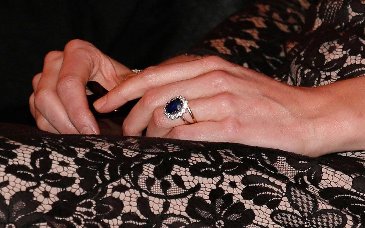 How Much Is Kate Middleton's Engagement Ring Worth Today? For 2018 Kate Middleton Engagement Rings And Wedding Bands (View 8 of 15)