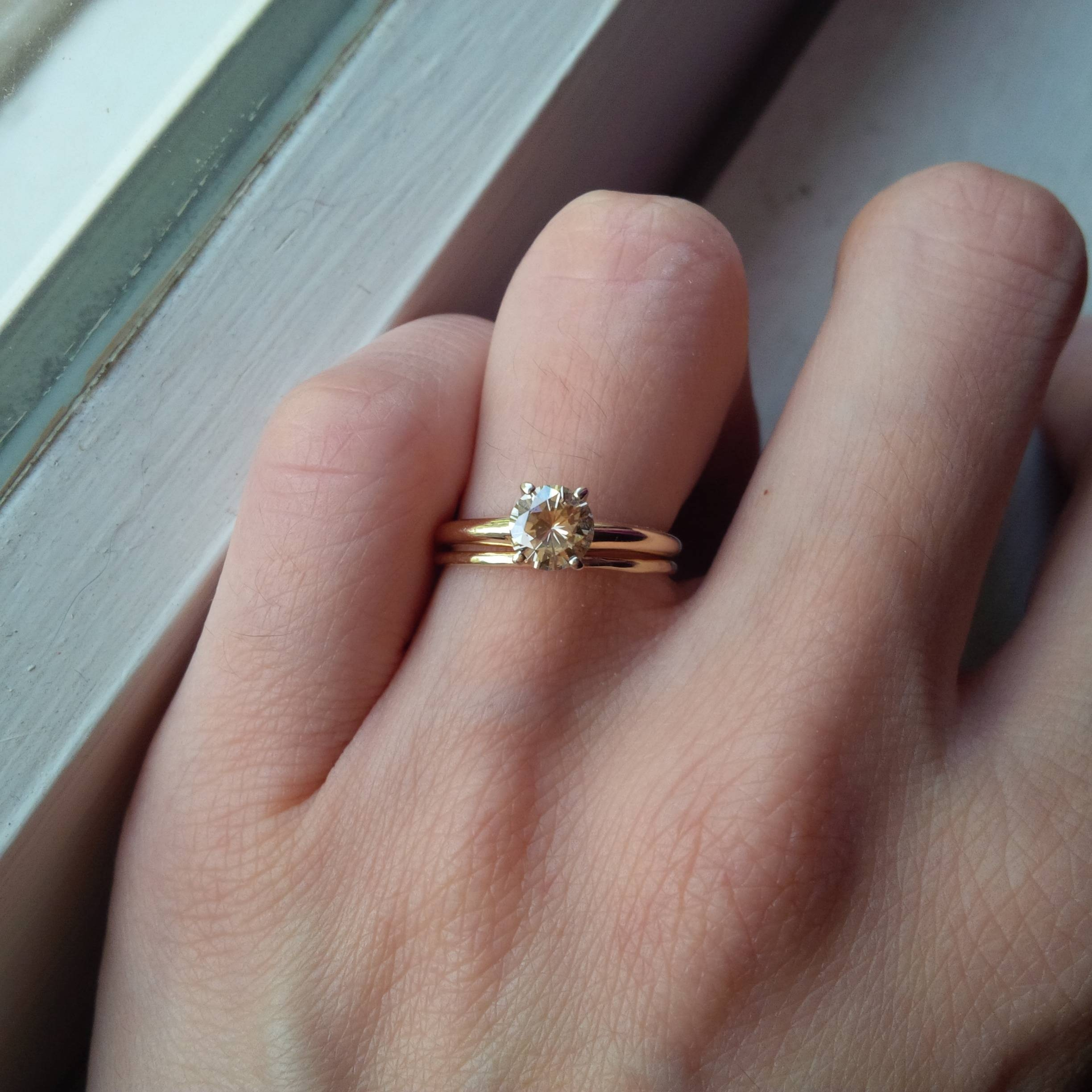 How Small Could This Engagement Ring Be Without Throwing Off The With Small Size Engagement Rings (View 9 of 15)