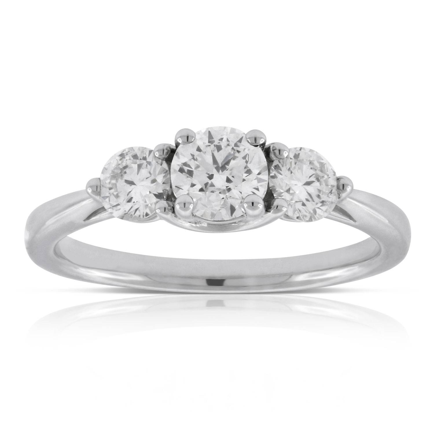 Ikuma Canadian Diamond Engagement 3 Stone Ring 14K | Ben Bridge With 3 Stone Platinum Engagement Rings (View 12 of 15)