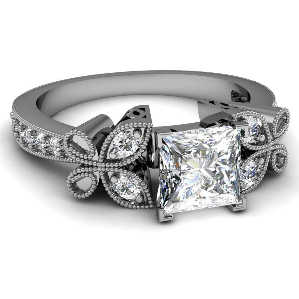 Important Princess Cut Diamond Rings | Wedding, Promise, Diamond Regarding Black And White Princess Cut Diamond Engagement Rings (View 9 of 15)