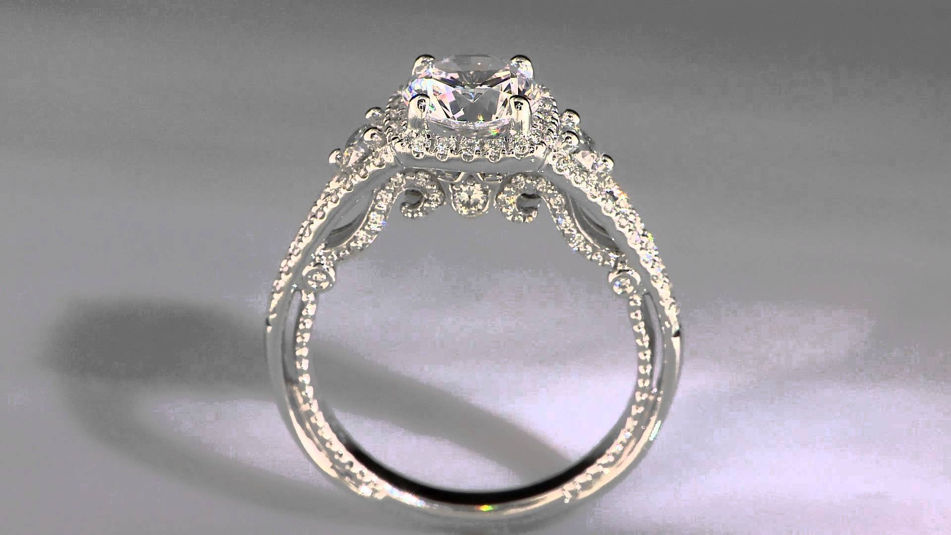 Insignia Verragio Diamond Engagement Ring Setting 7068Cu – Youtube Intended For Rogers And Holland Engagement Rings (Gallery 3 of 15)