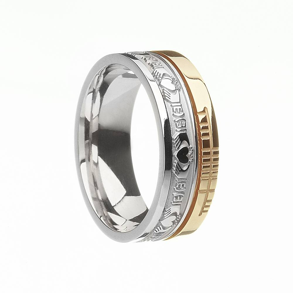 Irish Rings – Comfort Fit Faith Claddagh Wedding Band At Irishshop Inside 2018 Claddagh Irish Wedding Bands (View 11 of 15)