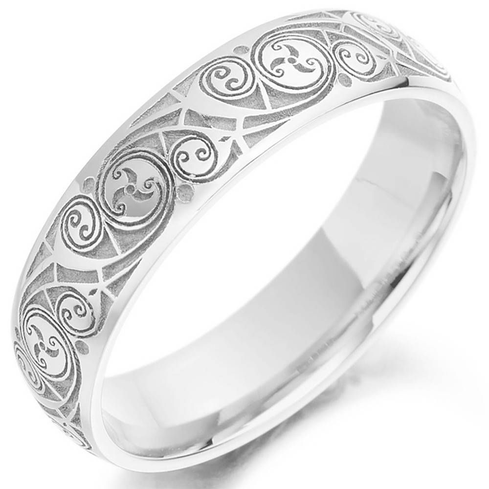 Irish Wedding Rings For Him & Her | Irish Wedding Bands Regarding Mens White Gold Claddagh Wedding Bands (View 13 of 15)