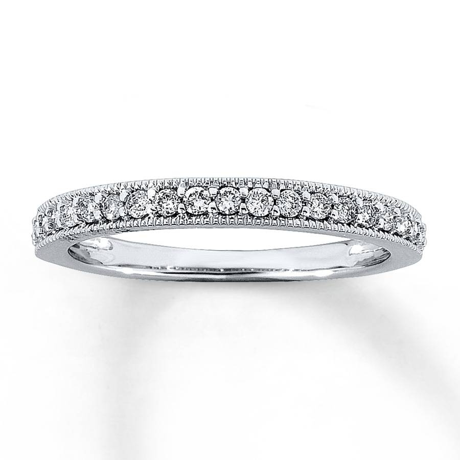 Jared – Diamond Anniversary Band 1/4 Ct Tw Round Cut 14K White Gold With Regard To Most Current One Carat Diamond Wedding Bands (View 7 of 15)