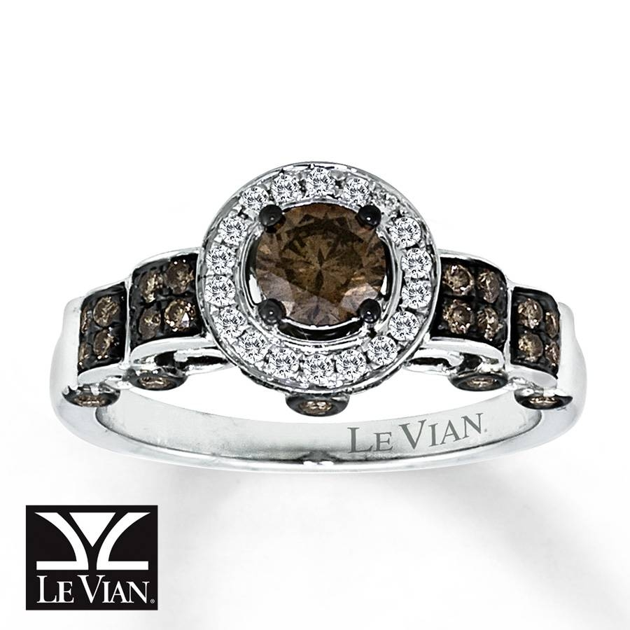 Jared – Levian Chocolate Diamonds 1 1/5 Ct Tw Ring 14K Vanilla Gold Within Chocolate Diamonds Wedding Rings (View 6 of 15)