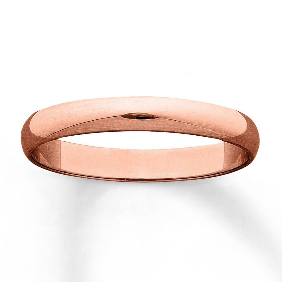 Jared – Men's Wedding Band 14K Rose Gold 3Mm With Mens Rose Gold Wedding Bands (Gallery 12 of 15)