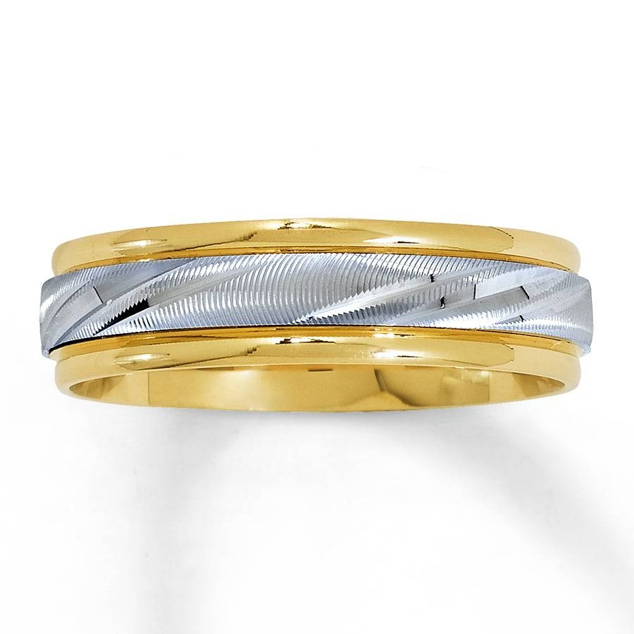 Jared – Men's Wedding Band 14K Two Tone Gold 5.8Mm Intended For Two Tone Men Wedding Bands (Gallery 11 of 15)