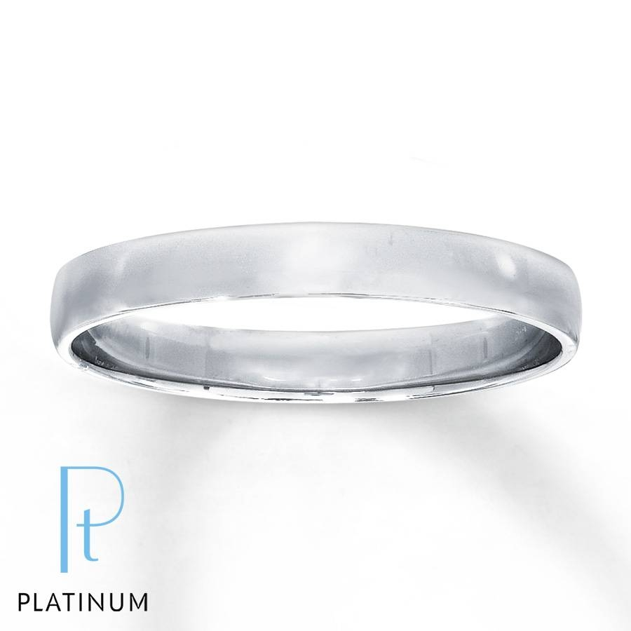 Jared – Men's Wedding Band Platinum Pertaining To Current Men Platinum Wedding Bands (View 3 of 15)