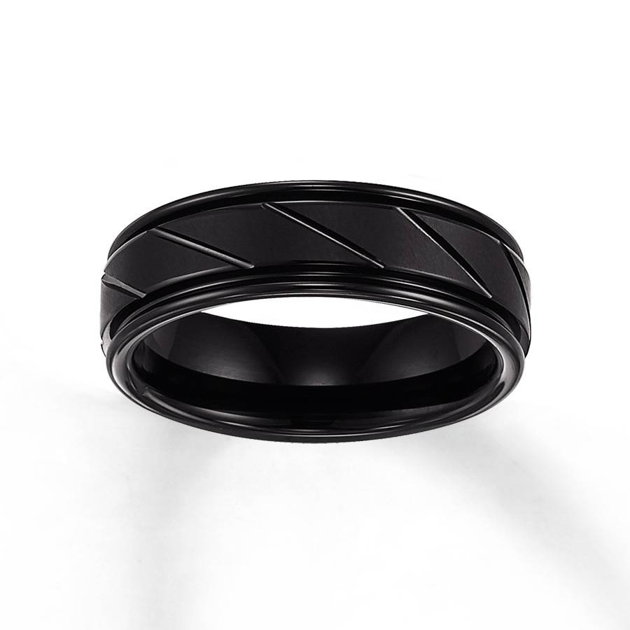 Jared – Women's Wedding Band Black Tungsten Carbide 7Mm With Regard To Tungsten Carbide Womens Wedding Rings (Gallery 5 of 15)