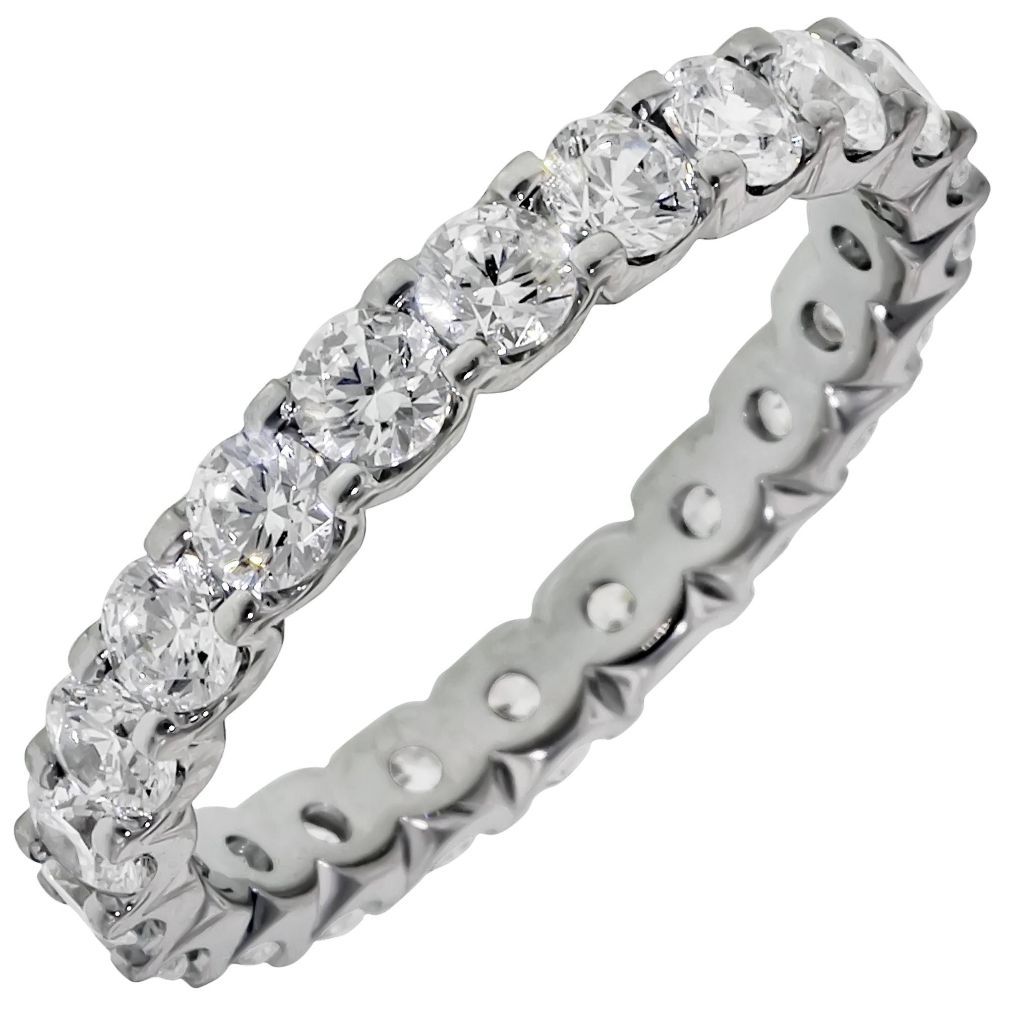 Just Perfect Diamond Eternity Wedding Band In 14kt White Gold (2ct Tw) Throughout Most Popular Platinum Eternity Wedding Bands (View 11 of 15)