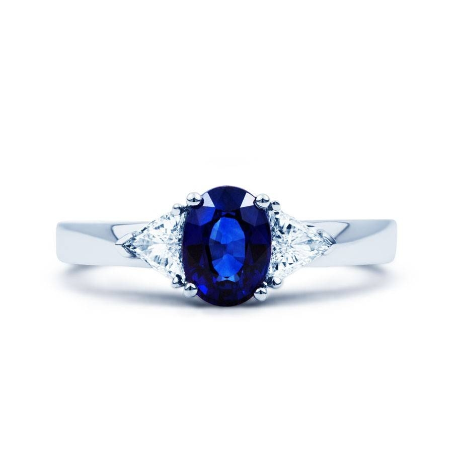 Kashmir Blue Sapphire Ring – Diamond Boutique ® Pertaining To White Gold Engagement Rings With Blue Sapphire (View 8 of 15)