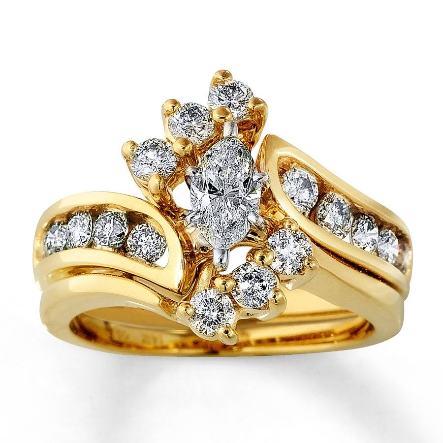 Kay – Diamond Bridal Set 1 1/2 Ct Tw Marquise Cut 14K Yellow Gold With Regard To Yellow Diamond Wedding Sets (View 8 of 15)