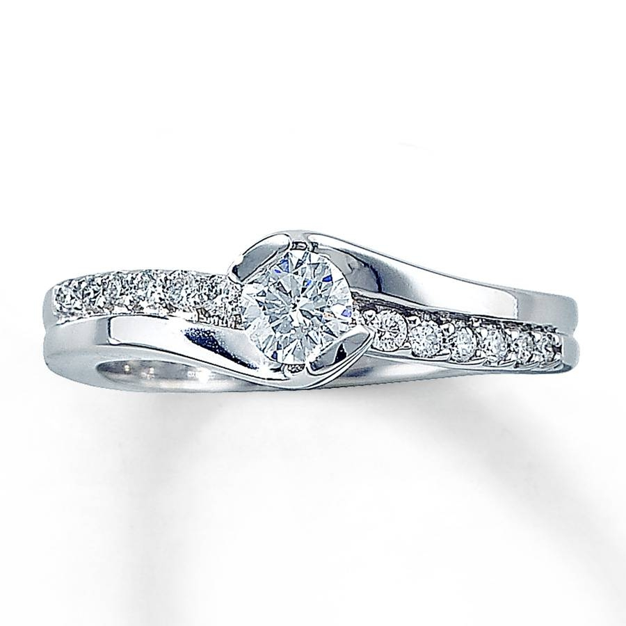 Kay – Diamond Engagement Ring 1/2 Ct Tw Round Cut 14k White Gold Pertaining To Floating Diamond Engagement Rings (View 14 of 15)