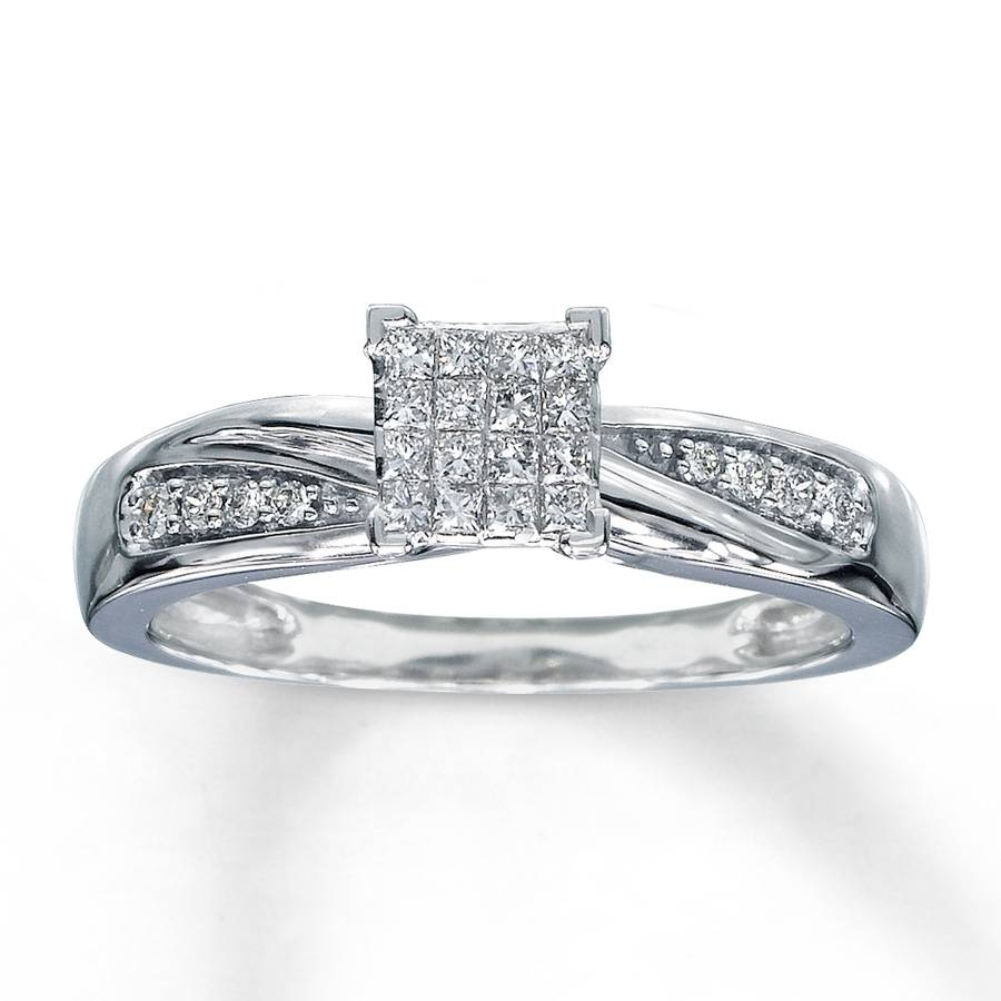 Kay – Diamond Engagement Ring 1/5 Ct Tw Diamonds 10K White Gold For 10K Diamond Engagement Rings (Gallery 3 of 15)