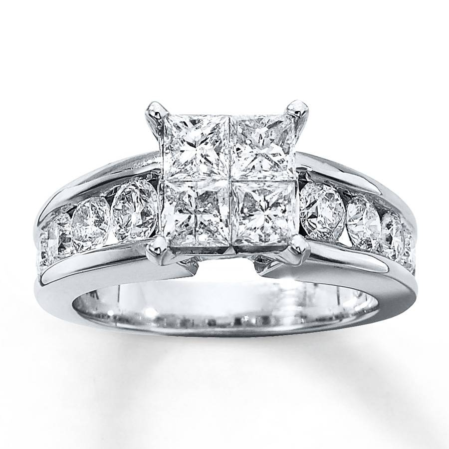 Kay – Diamond Engagement Ring 2 1/2 Ct Tw 14k White Gold Regarding (View 2 of 15)
