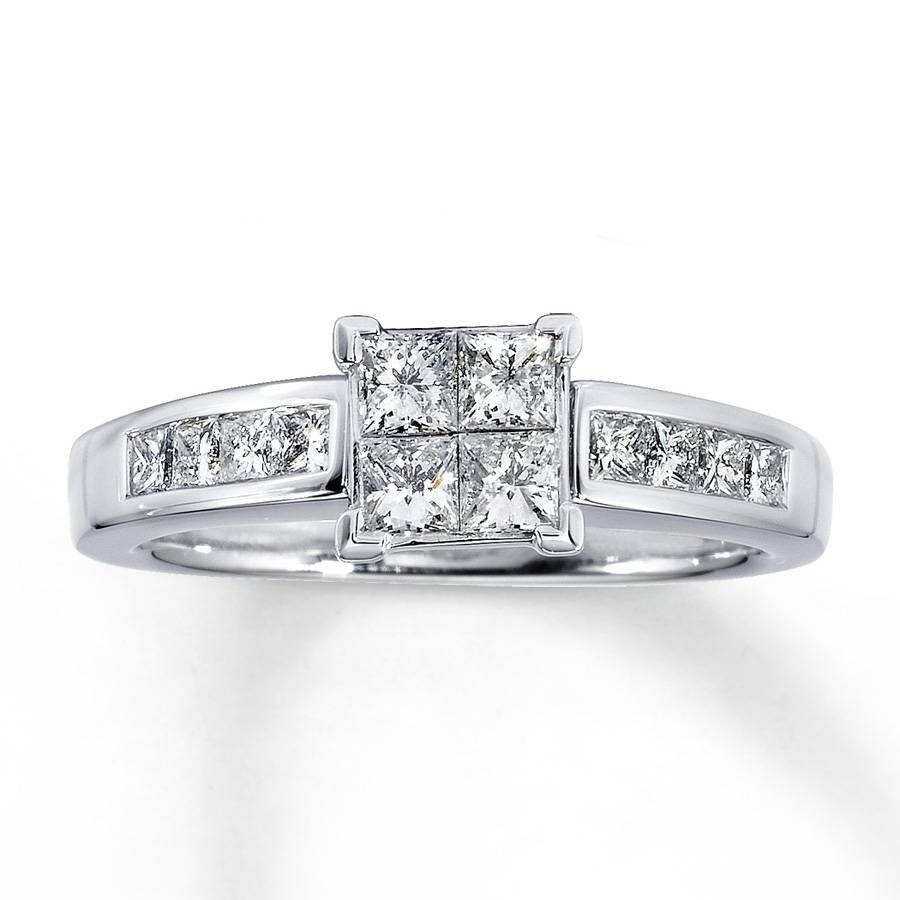 Kay – Diamond Engagement Ring 7/8 Carat Tw 14K White Gold Intended For 8 Carat Diamond Engagement Rings (Gallery 2 of 15)