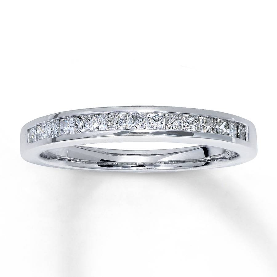 Kay – Diamond Wedding Band 1/3 Ct Tw Princess Cut 14K White Gold Within Most Recent One Carat Diamond Wedding Bands (View 10 of 15)
