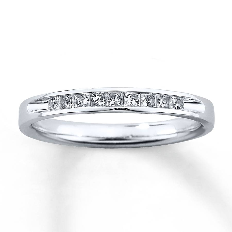 Kay – Diamond Wedding Band 1/4 Ct Tw Princess Cut 10K White Gold Within 4 Diamond Wedding Bands (View 8 of 15)