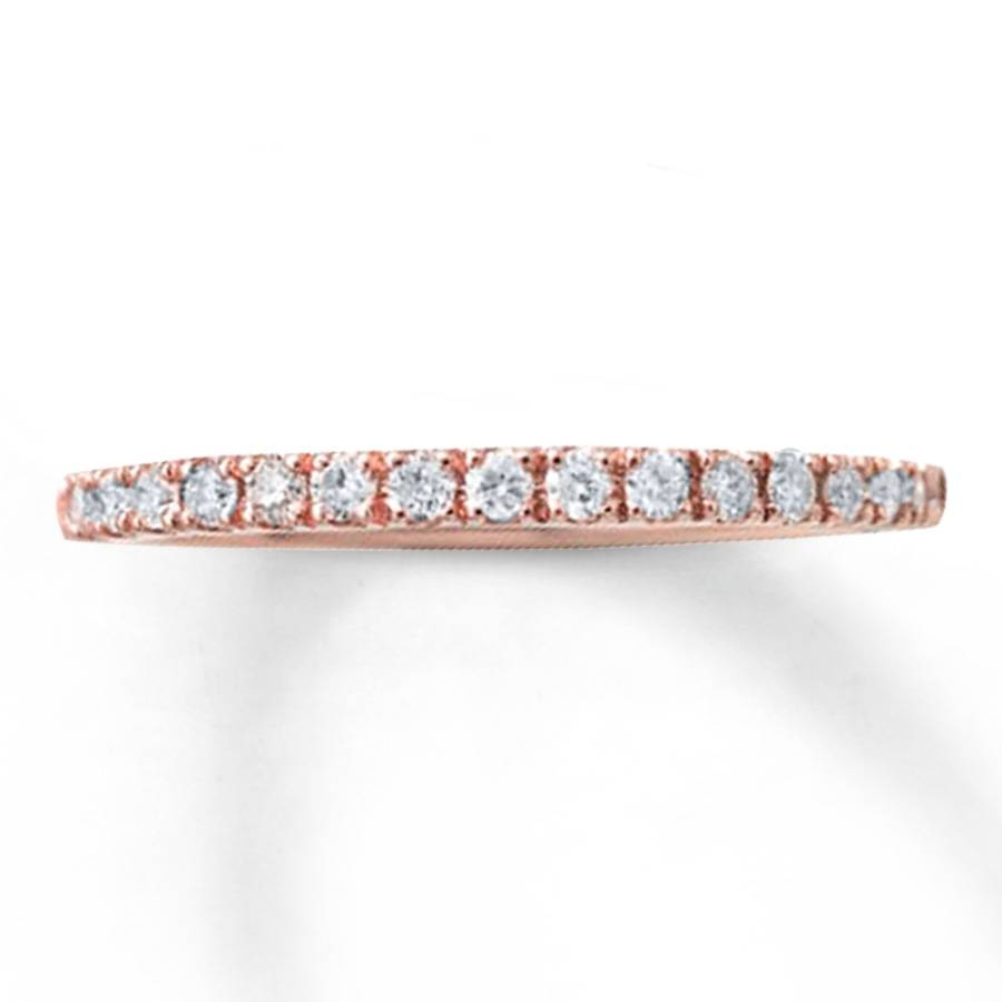 Kay – Diamond Wedding Band 1/4 Ct Tw Round Cut 10K Rose Gold For Rose Gold Diamond Wedding Bands (Gallery 11 of 15)