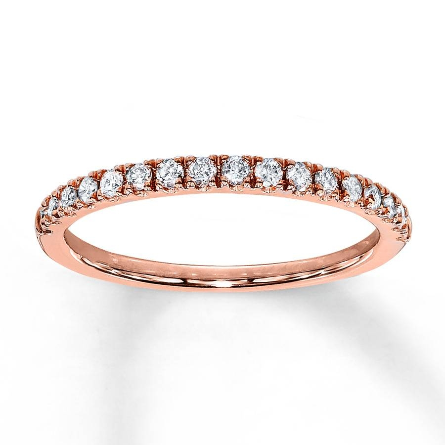 Kay – Diamond Wedding Band 1/4 Ct Tw Round Cut 10K Rose Gold Inside Rose Gold Diamond Wedding Bands (Gallery 7 of 15)