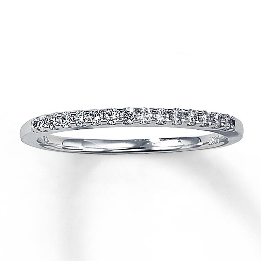Kay – Diamond Wedding Band 1/6 Ct Tw Round Cut 14K White Gold Inside 1 Carat Wedding Bands (View 10 of 15)