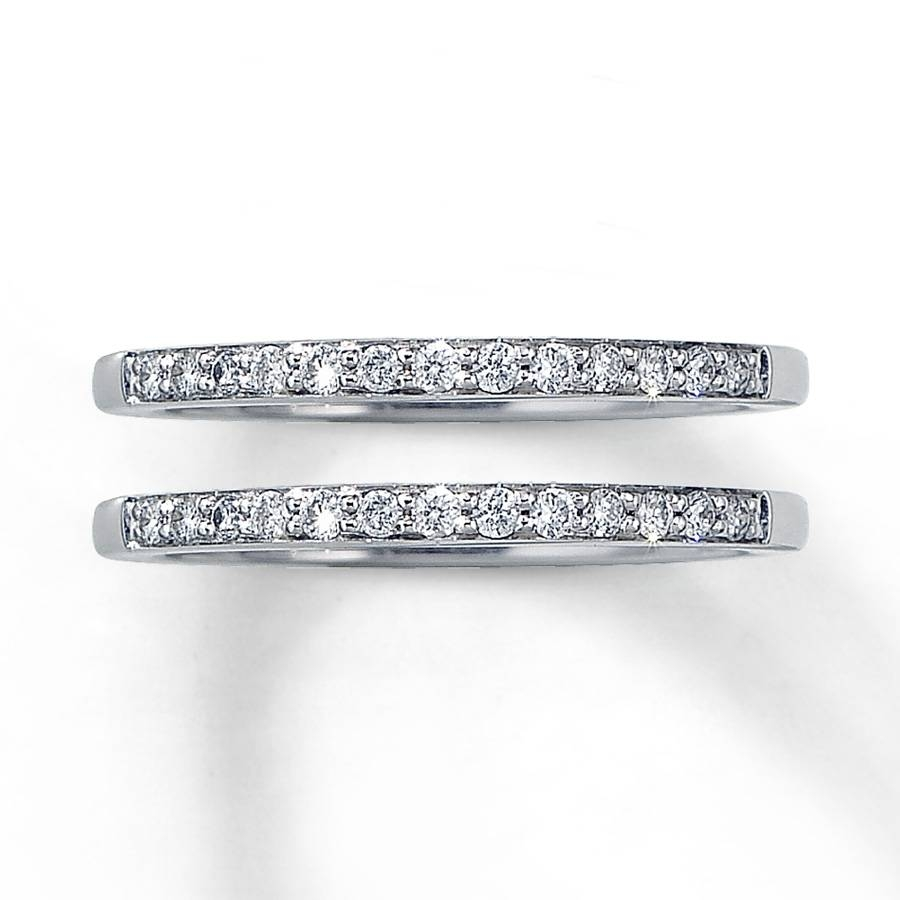 Kay – Diamond Wedding Bands 1/4 Ct Tw Round Cut 14K White Gold For Recent One Carat Diamond Wedding Bands (View 13 of 15)