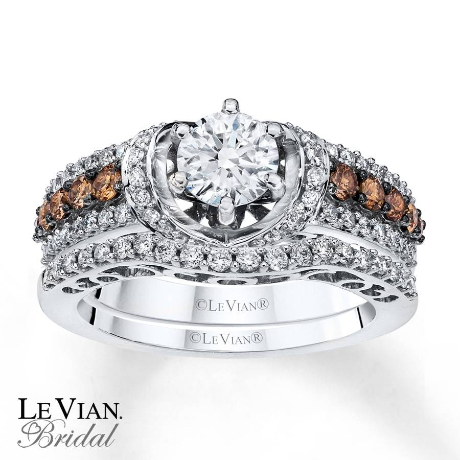 Kay – Le Vian Bridal Set Chocolate Diamonds 14K Vanilla Gold Pertaining To Chocolate Diamonds Wedding Rings (Gallery 7 of 15)