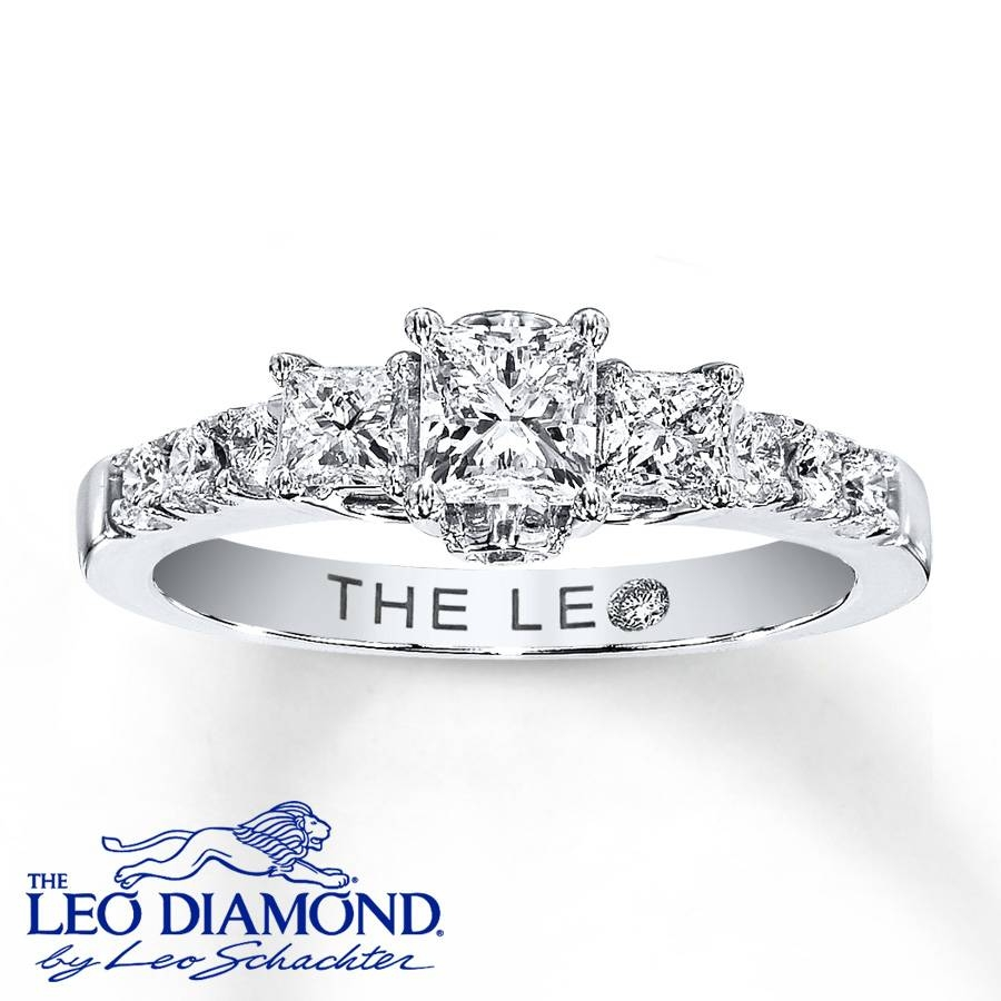 Kay – Leo Engagement Ring 7/8 Ct Tw Diamonds 14k White Gold Pertaining To 7 Diamond Engagement Rings (View 12 of 15)