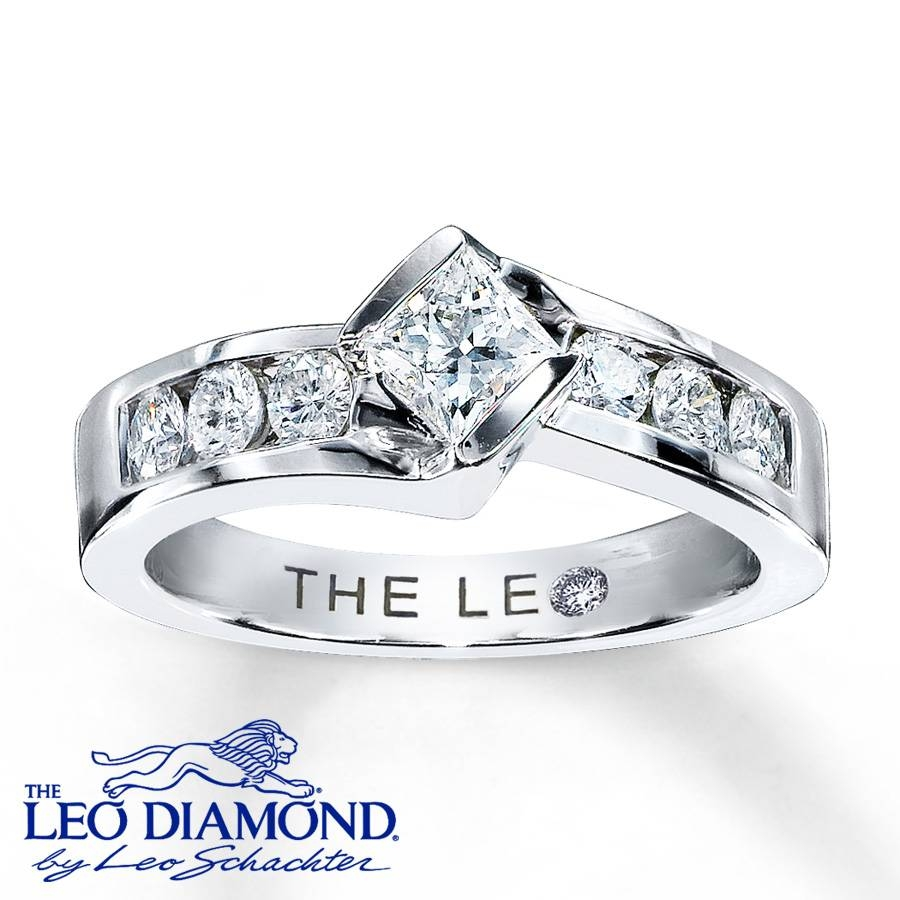 Kay – Leo Engagement Ring 7/8 Ct Tw Diamonds 14K White Gold Throughout 7 Diamond Engagement Rings (View 11 of 15)