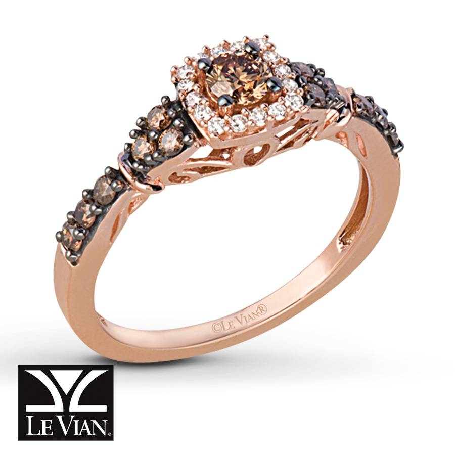 Kay – Levian Chocolate Diamonds 1/2 Ct Tw Ring 14k Strawberry Gold With Regard To Chocolate Diamonds Wedding Rings (View 5 of 15)