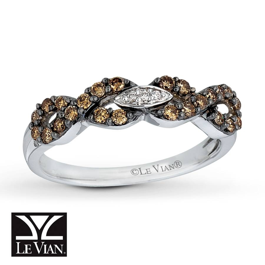 Kay – Levian Chocolate Diamonds 3/8 Carat Ring 14k Vanilla Gold Regarding Chocolate Diamonds Wedding Rings (View 8 of 15)