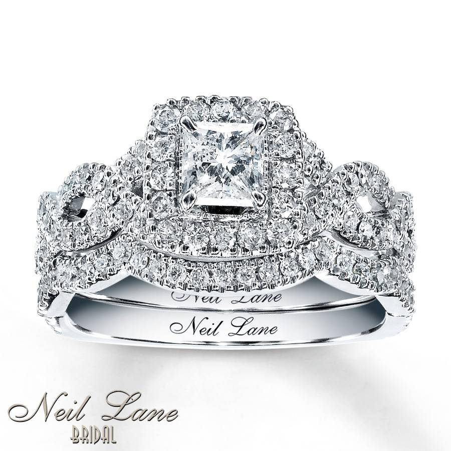 Kay – Neil Lane Bridal Set 1 1/6 Ct Tw Diamonds 14K White Gold For Wedding Rings Bridal Sets (Gallery 12 of 15)