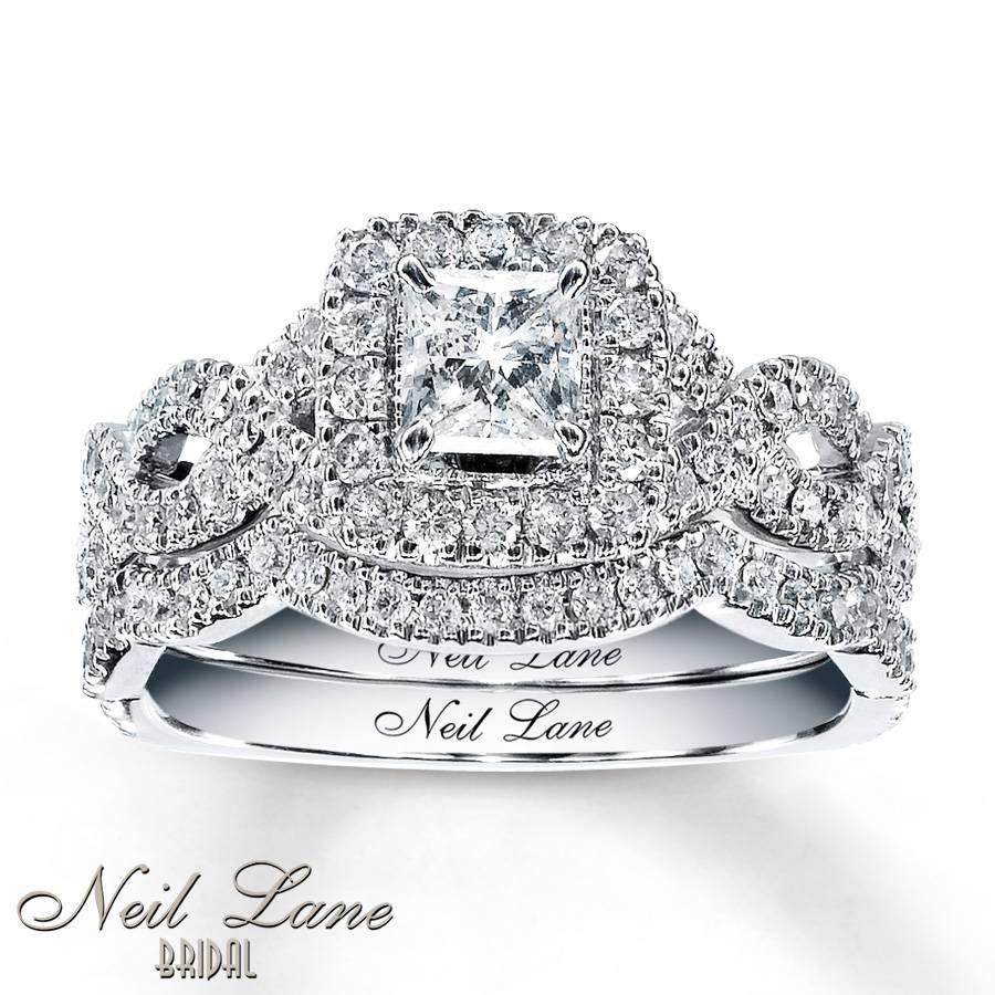 Kay – Neil Lane Bridal Set 1 1/6 Ct Tw Diamonds 14K White Gold With Regard To White Gold Diamond Wedding Ring Sets (Gallery 10 of 15)