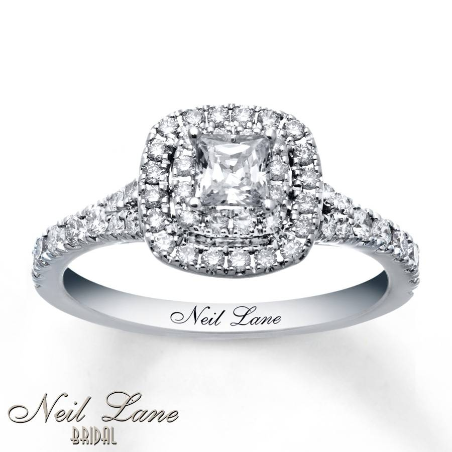 Kay – Neil Lane Engagement Ring 1 Ct Tw Diamonds 14K White Gold Throughout 14K White Gold Engagement Rings (View 12 of 15)