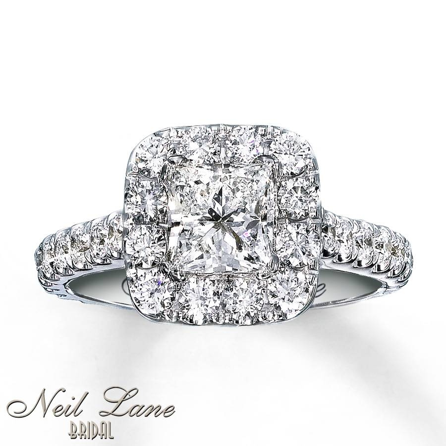 Kay – Neil Lane Engagement Ring 2 Ct Tw Diamonds 14K White Gold Regarding 2 Ct Wedding Rings (Gallery 2 of 15)