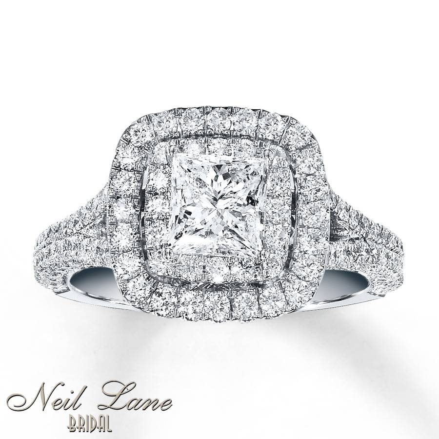 Kay – Neil Lane Engagement Ring 2 Ct Tw Diamonds 14K White Gold Within 2 Ct Wedding Rings (Gallery 7 of 15)