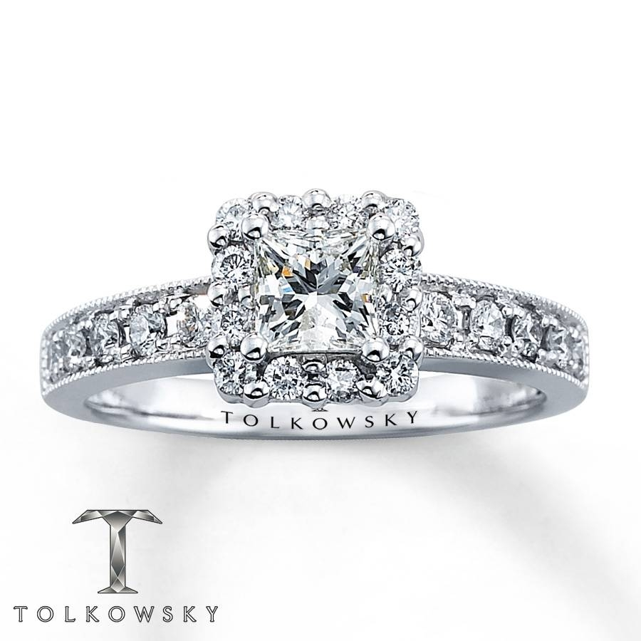 Kay – Tolkowsky Engagement Ring 7/8 Ct Tw Diamonds 14k White Gold Inside 7 Diamond Engagement Rings (View 7 of 15)