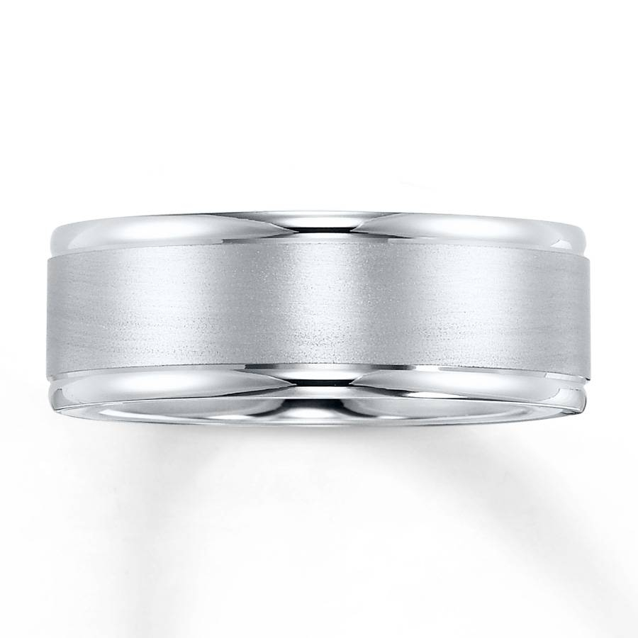 Kay – Wedding Band 10K White Gold 8Mm Throughout 8Mm White Gold Wedding Bands (View 9 of 15)