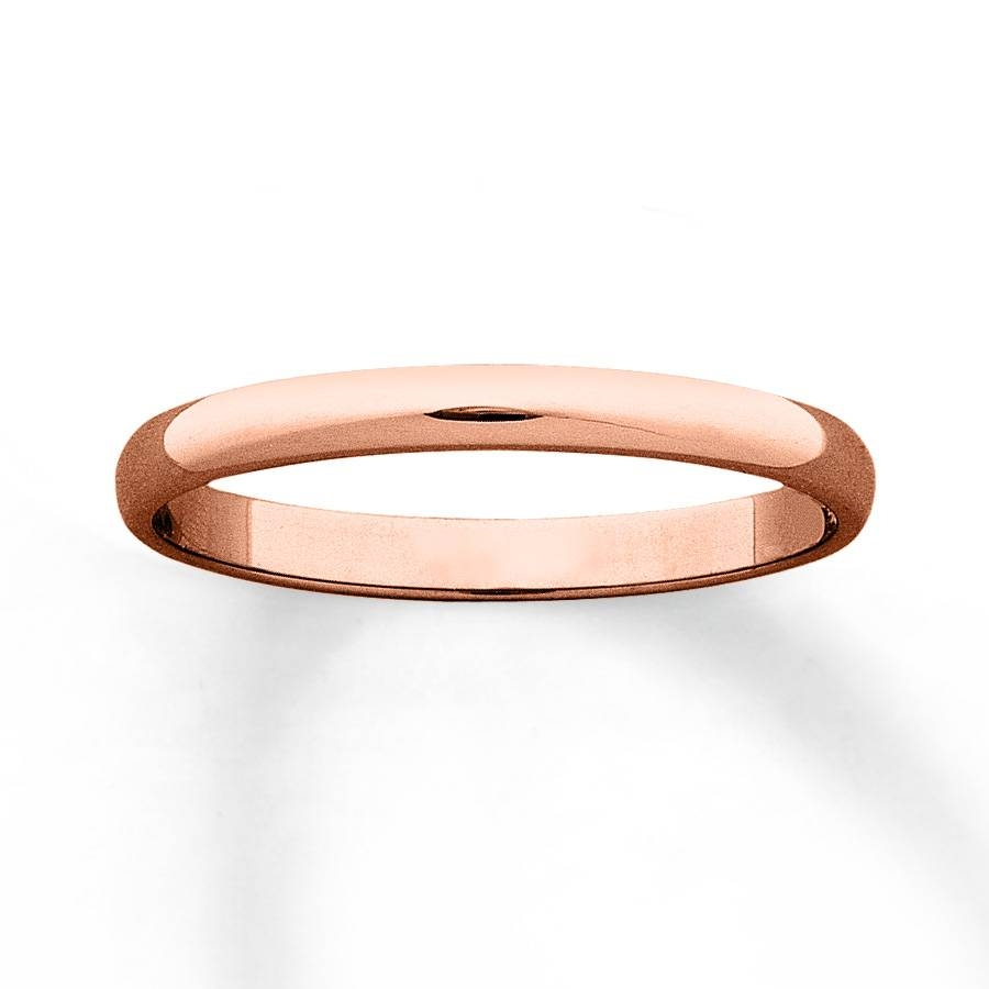 Kay – Women's Wedding Band 10k Rose Gold 2mm With Regard To Thin Wedding Bands For Women (View 9 of 15)