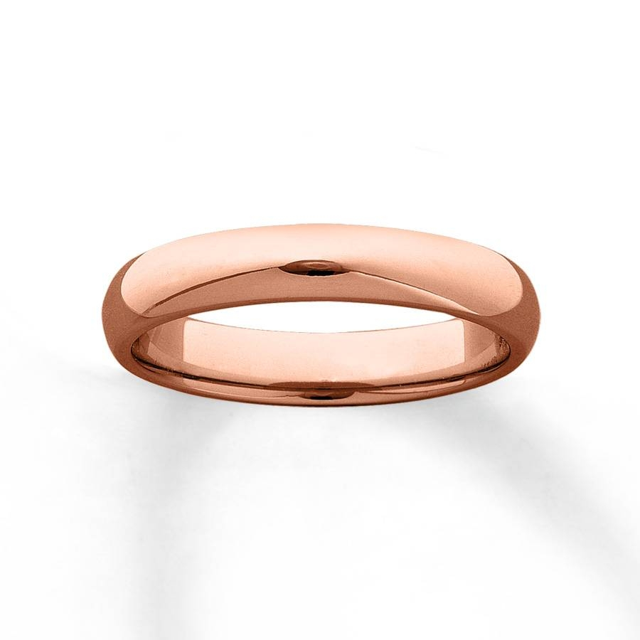 Kay – Women's Wedding Band 10K Rose Gold 4Mm Regarding Rose Gold Womens Wedding Bands (Gallery 7 of 15)