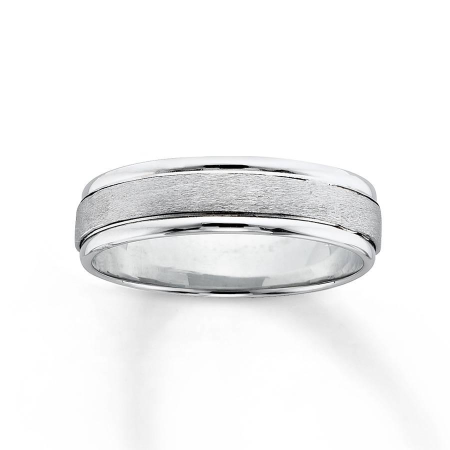 Kay – Women's Wedding Band 18K White Gold Platinum For White Gold Womens Wedding Bands (Gallery 12 of 15)