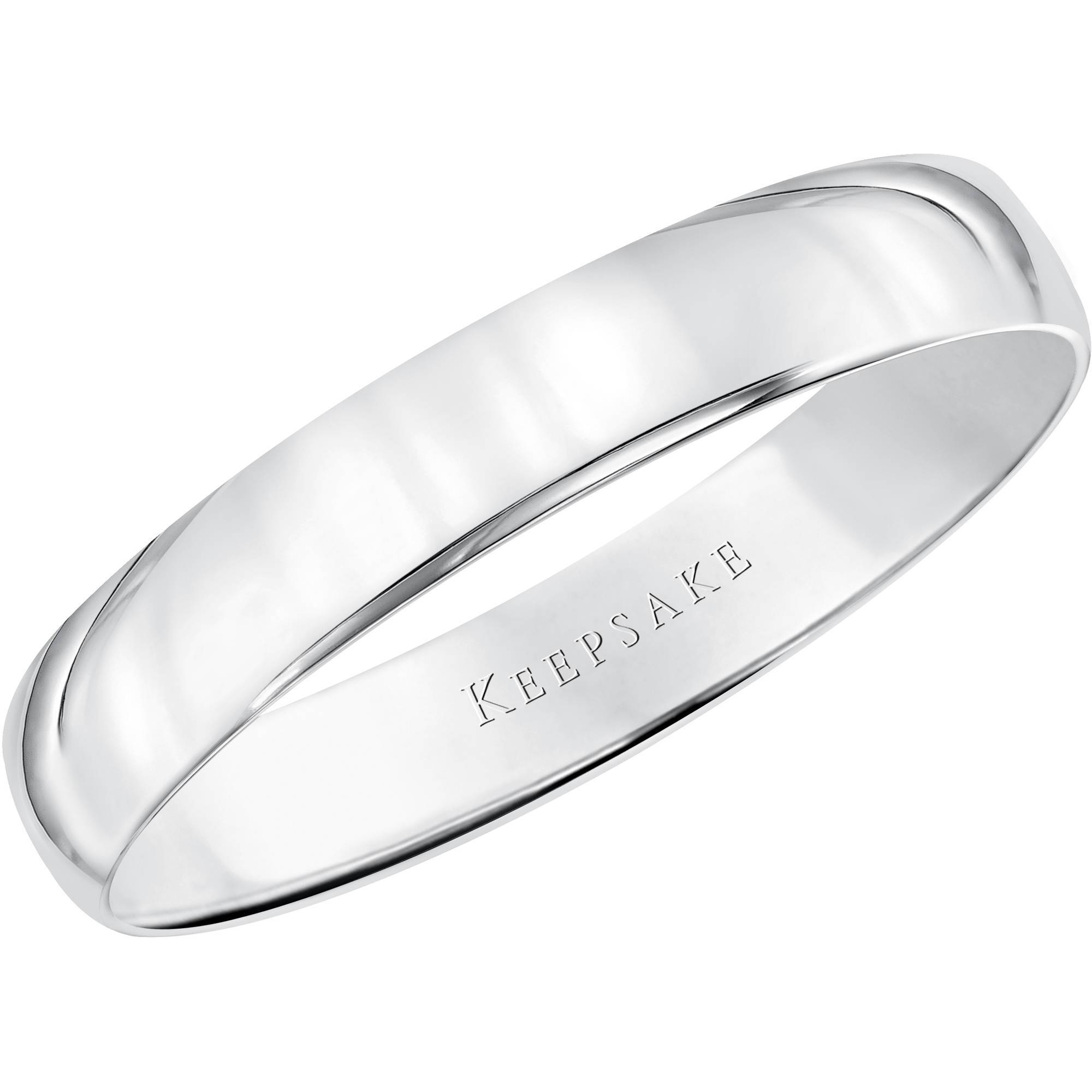 Keepsake 10Kt White Gold Wedding Band, 4Mm – Walmart With Regard To Best And Newest Gold And White Gold Wedding Bands (View 6 of 15)
