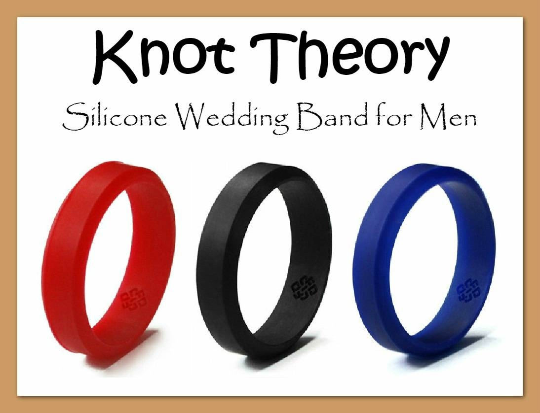 Knot Theory Flexible Silicone Wedding Band For Men | Easter Babe's Regarding Flexible Mens Wedding Bands (View 4 of 15)